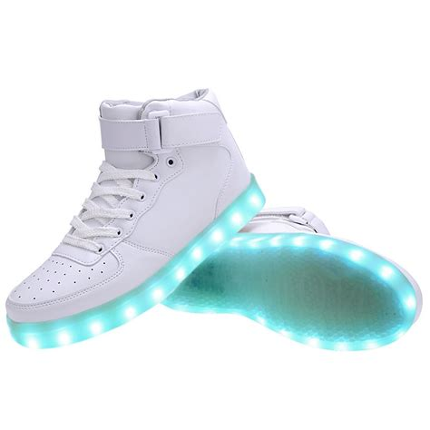mens light up shoes high top usb charging led light up shoes