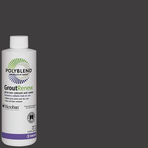 custom building products polyblend 60 charcoal 8 oz grout renew colorant gcl60hpt the home depot