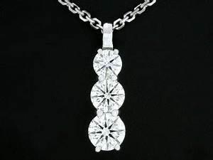 Round Bale Weight Chart Round Cut Pendant 2 06 Tcw Diamond 3 Stone In Shared