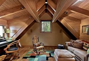 6, beautiful, and, stylish, wooden, houses, interiors