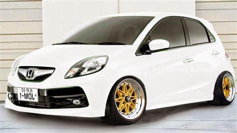 Honda Brio Modifikasi by Boncel Modif Modifikasi Honda Brio Putih Velg Resing