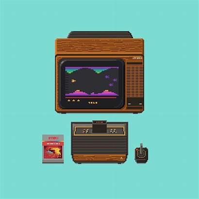 Retro Pixel Atari Gifs Gaming Machines Arcade