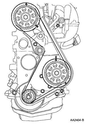 Want a diagram that show a 1999 Ford Ranger XL 2.5 timing belt