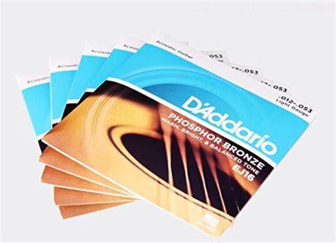 d addario ej16 3d phosphor bronze acoustic guitar strings