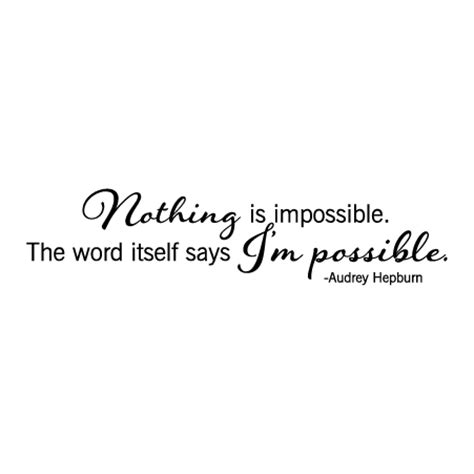 impossible wall quotes decal wallquotescom