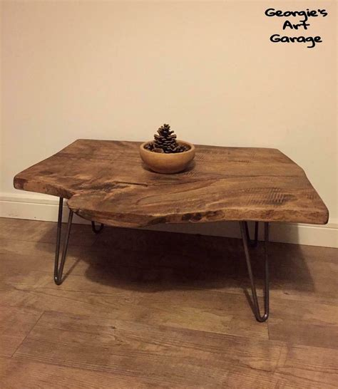 For this table, we're using a slab of black walnut from a local architectural salvage. Quite unique live edge natural walnut wood coffee table ...