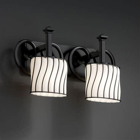 wire glass heritage  light matte black bath fixture