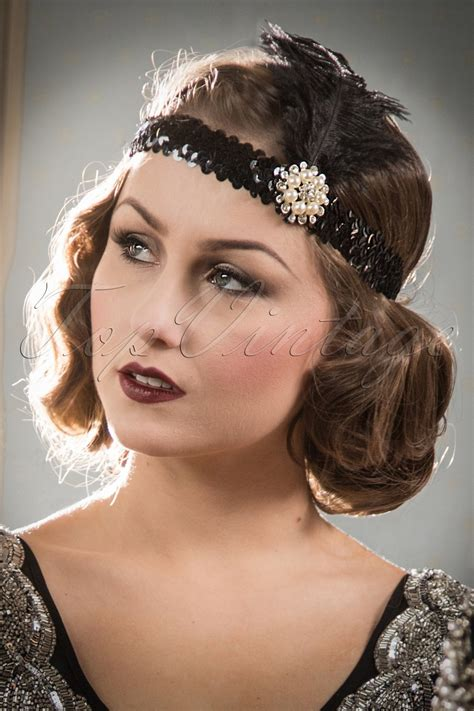 20s Hairstyles by 20s Ladyships Feather Headband