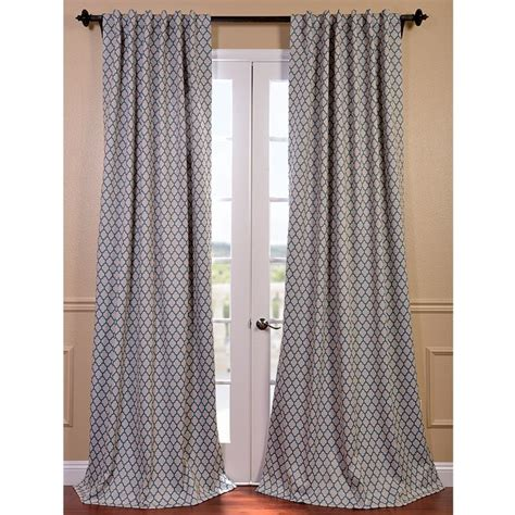 the fabric makeup of the casablanca teal curtain panel is