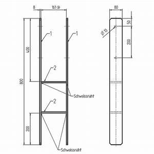 H Pfostenträger 800 : gah h pfostentr ger 161 mm gabelweite feuerverzinkt ~ Watch28wear.com Haus und Dekorationen