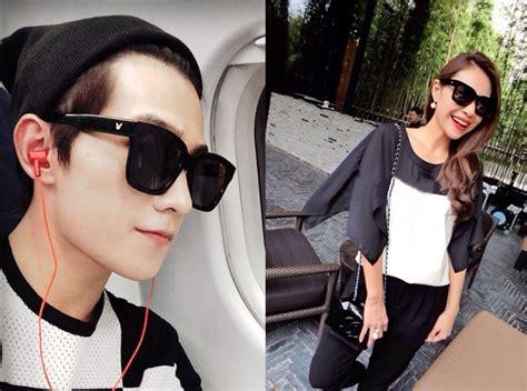 kacamata pria korean  style polarized sunglasses black
