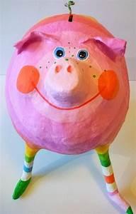 Sparschwein Aus Pappmache : geldgeschenke sparschwein l ca 17cm pappmache ein designerst ck von villaazula bei dawanda ~ Orissabook.com Haus und Dekorationen