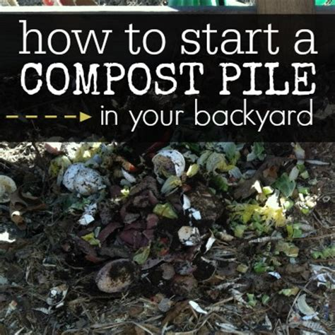 How To Backyard Compost by How To Start A Compost Pile In Your Backyard Coupon Closet