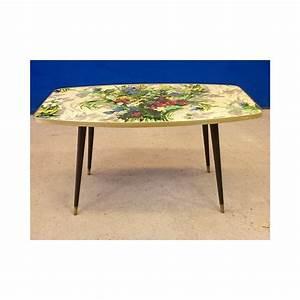 Table Pieds Compas : table basse vintage pied compas 1960 design market ~ Teatrodelosmanantiales.com Idées de Décoration