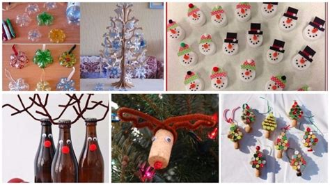 christmas decorations  recycled material  ideas