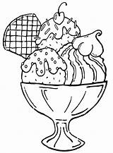 Ice Cream Coloring Pages Icecream sketch template