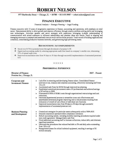executive resume service chicago