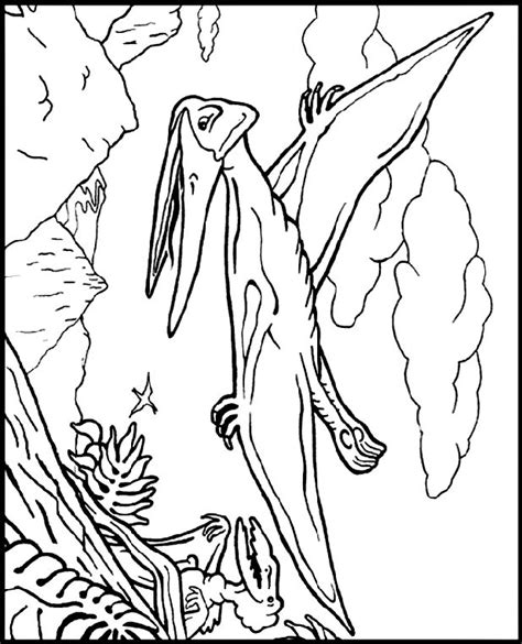 pteranodon coloring page history dinosaurs