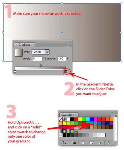 how to change gradient color in illustrator illustrator tip faster gradient color adjustments