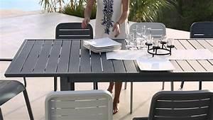 Mobilier Jardin Carrefour : collection mobilier de jardin 2016 hyba chez carrefour la ligne alu 152 youtube ~ Teatrodelosmanantiales.com Idées de Décoration