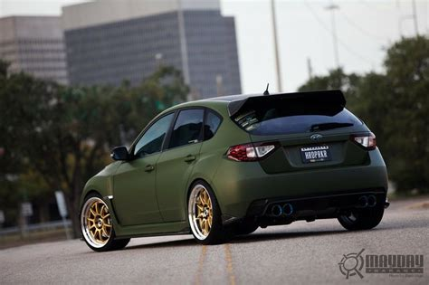 matte green love matte green and gold wheels wrx pinterest