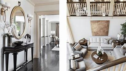 Comfort Serene Living Foyer Transitional Woodside Interior