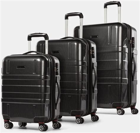 bugatti  piece hardside luggage set black bugatti