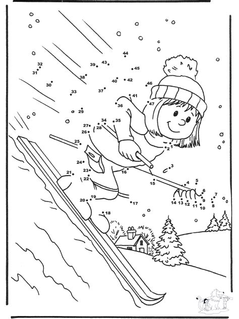 number drawing ski winter sports
