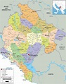 Political Map of Montenegro | Montenegro map, Political ...