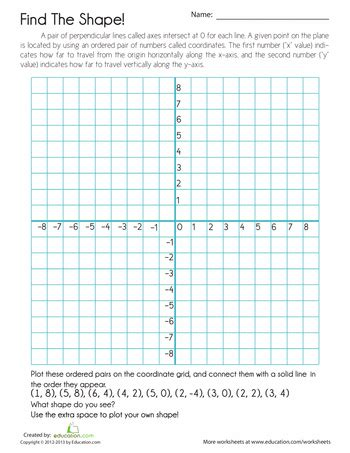 coordinate grid mystery picture interactive notebooks