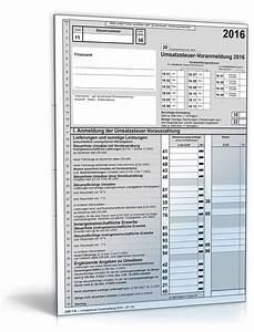 Fristverlängerung Steuer 2016 : umsatzsteuer voranmeldung 2016 steuerformular zum download ~ Lizthompson.info Haus und Dekorationen