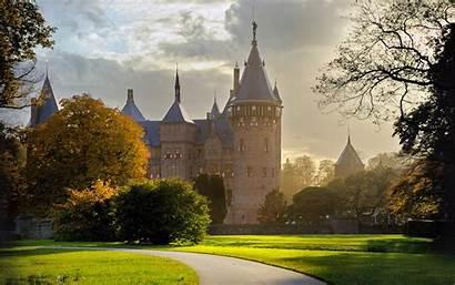 Castle Utrecht Haar Netherlands Castles Background Wallpapers