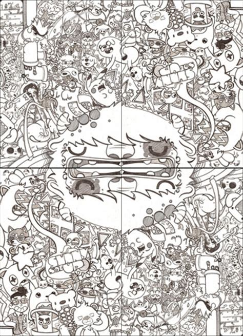 school notebook cover doodle coloring page