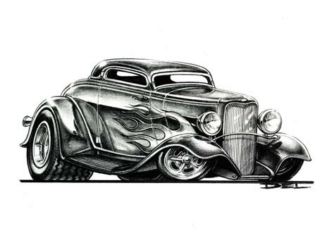 cartoons  hot rods swanson artworks