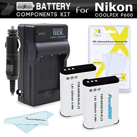 nikon coolpix p900 charger 2 pack battery and charger kit for nikon coolpix p900 Nikon Coolpix P900 Charger