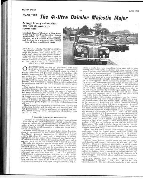 Road test: the 4 1/2-litre Daimler Majestic Major | Motor