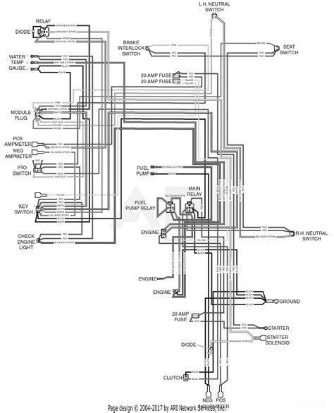 scag stt61v 29dfi ss turf tiger s n d7700001 d7799999 parts diagram for electrical schematic