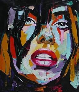 Peinture Visage Femme : peinture pop art visage femme tableau toile moderne ~ Melissatoandfro.com Idées de Décoration