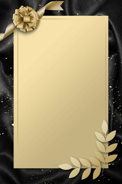 simple invitation card gold black wedding invitation