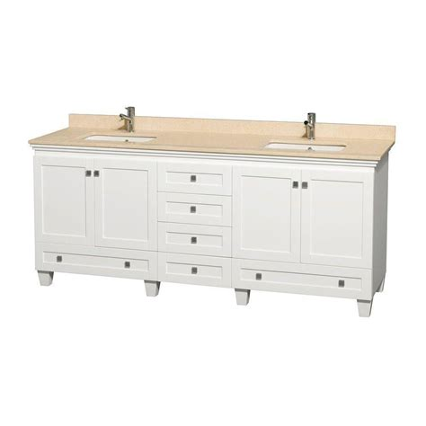 Wyndham Bathroom Vanities Canada by Wyndham Collection Acclaim 80 In Vanity In White