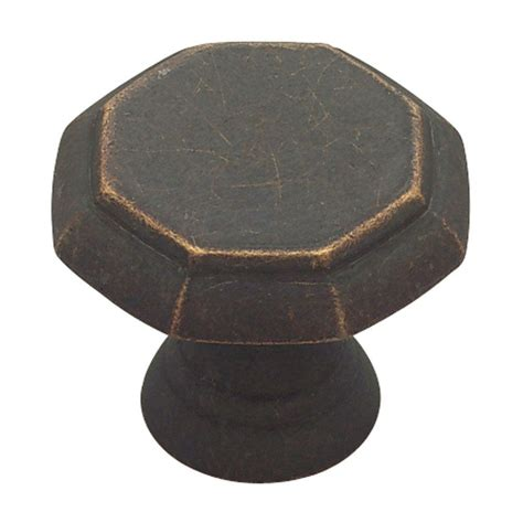 kitchen cabinet knobs home depot liberty athens 1 1 8 in distressed rubbed bronze 7868