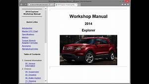 Ford Explorer  U508    Repair Manual