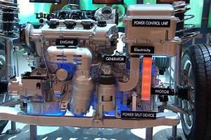 Hybrid Gas Electric Engine Stock Image  Image Of Diagram