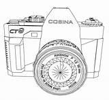 Coloring Camera Coloringhome sketch template