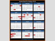 Acleda Bank Holidays 2018 – Holidays Tracker
