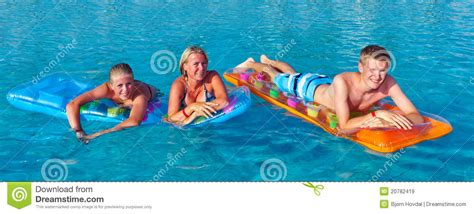 best pool size for family family in the pool royalty free stock images image 20782419