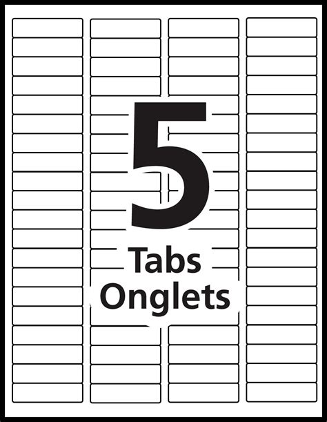 5 tab template microsoft word index maker dividers templates avery