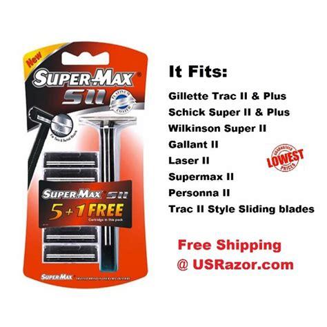 Supermax Fits Gillette Trac II Plus Razor Blades Handle