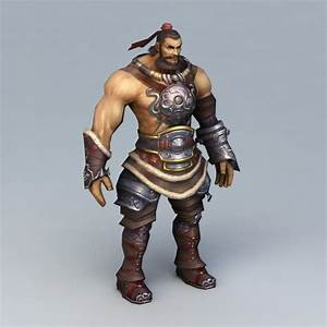 Warrior, Man, Rigged, 3d, Model, 3ds, Max, Files, Free, Download