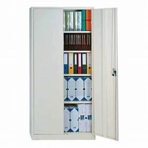 Armoire De Bureau Métallique : armoire de bureau portes battantes pour dossiers suspendus ~ Melissatoandfro.com Idées de Décoration